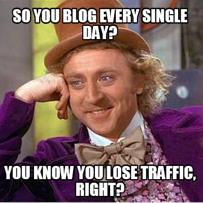 so you blog every single day