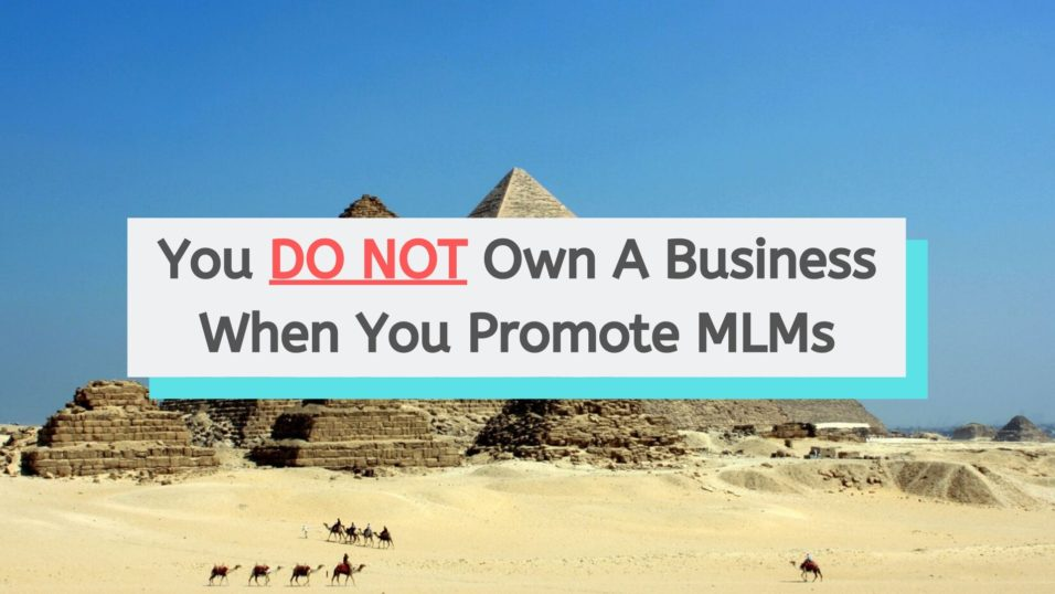 You Do Not Own A Business When You Promote MLM Products
