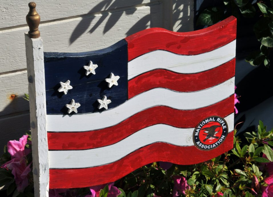 NRA wooden flag